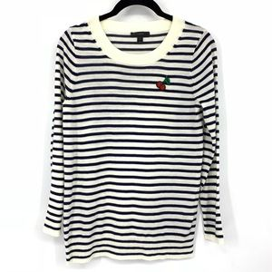J. Crew Sweaters - 🌵 j crew striped tippi sweater with cherry patch